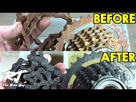 Rusty Freewheel/Chain - Challenged To Remove The Rust With Evaporust