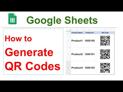 How to Generate QR Code in Google Sheets || Bulk QR Code  Generator in Google Sheets