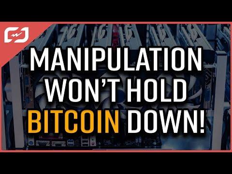 Manipulation WILL NOT hold the Bitcoin Price down!!!