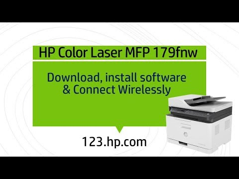 HP Color Laser MFP 179fnw : Download, Install software and connect wirelessly