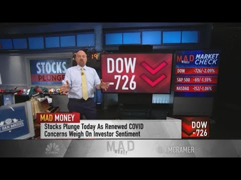 Jim Cramer recaps Monday's sell-off, pins it on Covid fears and speculation