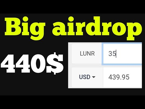 440$ Lunr Airdrop   Withdraw Proof   instant Earn Lunr Point   lunar crush  point trick...