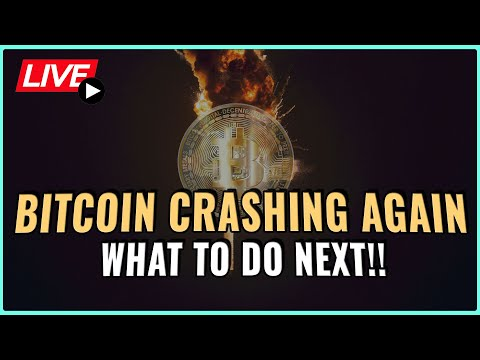 Bitcoin price crashing!! - What's next + How to respond!! Coffee N Crypto Live