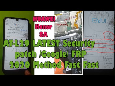 HUAWEI Honor 8A JAT-L29 LATEST Security patch /Google/ FRP Account Easy 2020