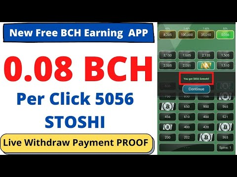 Bitcoin Cash | Bitcoin Cash Earning APP 2021 | Live Withdraw Payment Proof | By ABID STV