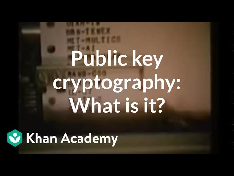 Public key cryptography: What is it? | Computer Science | Khan Academy