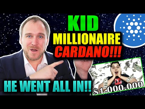SET FOR LIFE! $ADA CARDANO KID MILLIONAIRE!!  2$ $4 $5 DROPPED OUT FOR BTC!! 100X ADA