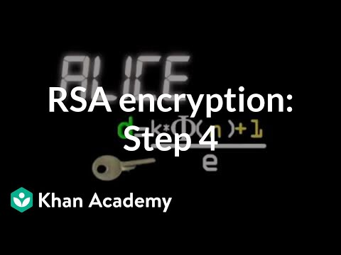 RSA encryption: Step 4 | Journey into cryptography | Computer Science | Khan Academy