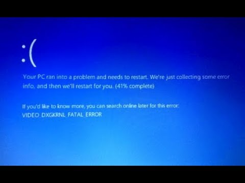 How to Fix Blue Screen Error VIDEO DXGKRNL FATAL ERROR in Windows 10