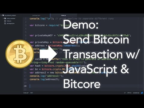 HowTo Send a Bitcoin Transaction with JavaScript & Bitcore