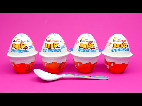 NEW Kinder Joy Ice Cream Surprise with Toys