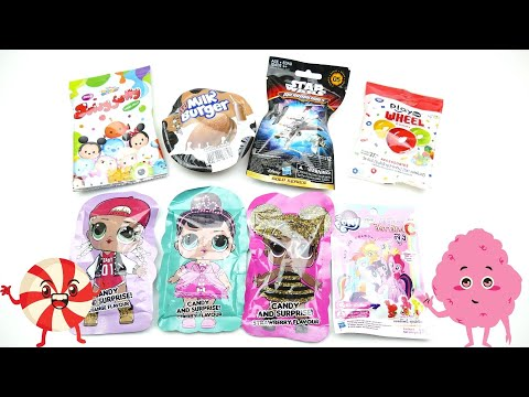 A lot of Candy unboxing LOL Surprise Star Wars and My Little Pony