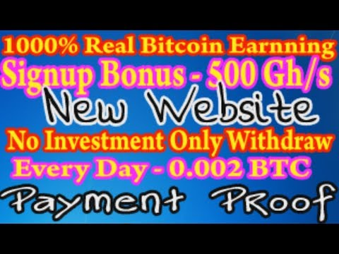 New Website 2019 ~Free 500 GHs Bitcoin Very Fast Mining Speed !! #Live Withdraw
