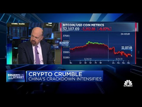 Jim Cramer says he 'sold almost all' of his bitcoin after China's crypto crackdown