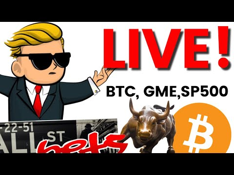 Day Trading Live: FRIDAY Open Bitcoin, GME, AMC